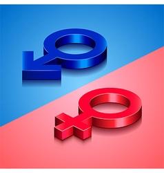 Woman and man symbols vector
