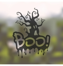 Boo icon on blurred background vector