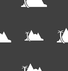 Mirage icon sign seamless pattern on a gray vector