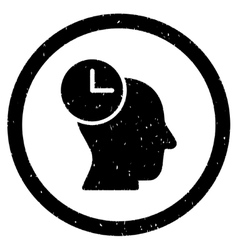 Time thinking rounded grainy icon vector