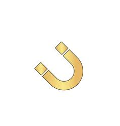 Magnetism computer symbol vector