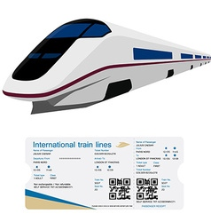 Train ticket vector image