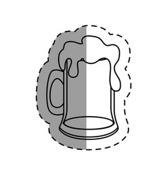 fresh beer jar isolated icon vector image