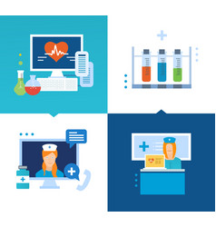 Modern medicine technology methods of treatment vector