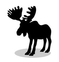 Elk mammal black silhouette animal vector