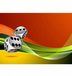 casino illustration with two dice vector image