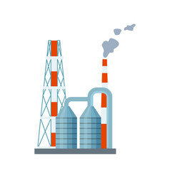 Modern power plant isolated icon vector