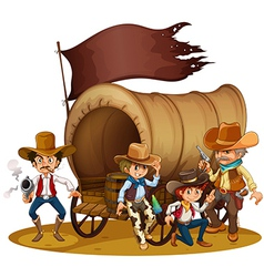 People from the wild West vector image