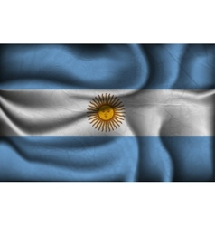 Crumpled flag of argentina vector