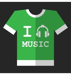I love music icon vector
