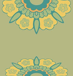 Ornamental border flowers pattern colorful vector