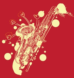 Abstract sketchy sax vector