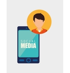 Social media and ecommerce vector
