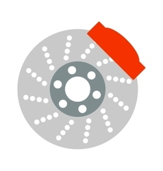 Car brake discs system spare part auto repair vector