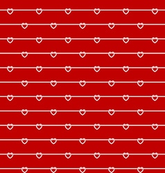 Rope wires with heart knots red seamless pattern vector
