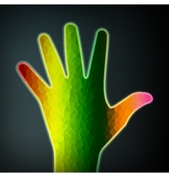 Abstract colorful hand vector