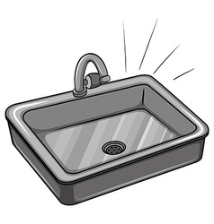 A kitchen sink vector