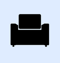armchair isolated on gray vector image