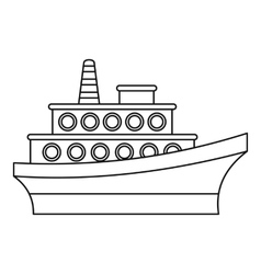 Big ship icon outline style vector image vector image