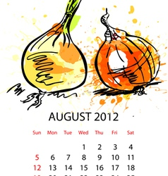 Calendar with vegetables for 2012 vector