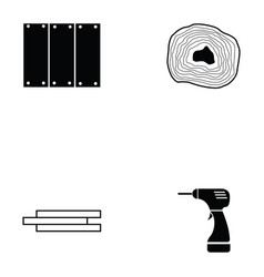Carpenter icon set vector
