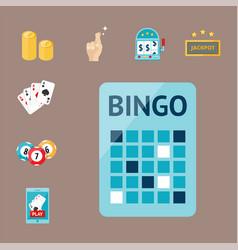 casino game poker gambler symbols blackjack cards vector image