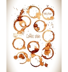 Coffee stain set vector image vector image