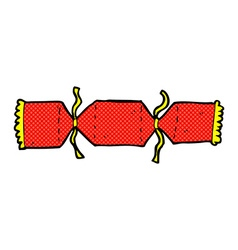 Comic cartoon christmas cracker vector