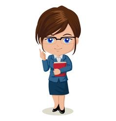 Cute cartoon of a teacher vector