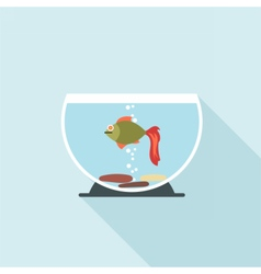 Digital fish in aquarium vector