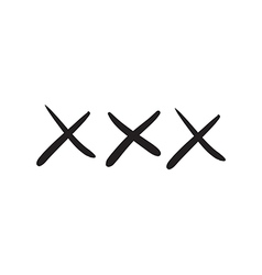 Doodle style xxx vector image