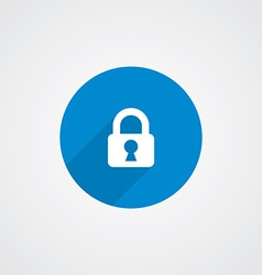 Flat Blue Lock Icon vector image