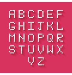 Flat Pixel Alphabet vector image vector image