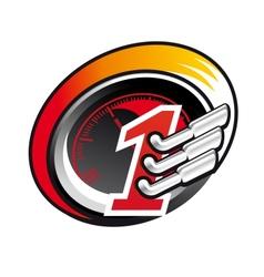 Formula one racing icon vector