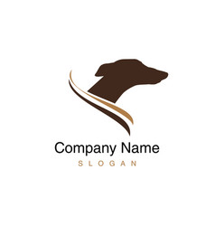 greyhound dog logo vector image vector image