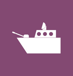 icon military warship vector image