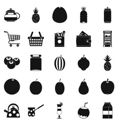 Kettle icons set simple style vector
