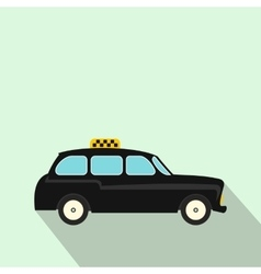 London black cab icon flat style vector