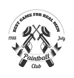 paintball club sport game paint ball rifle gun vector image