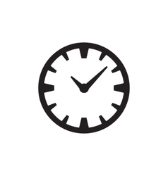 Time Or Clock Icon vector image vector image