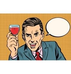 Toast man glass of wine vector