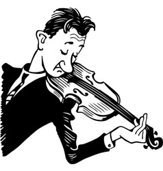 violinist vector image vector image