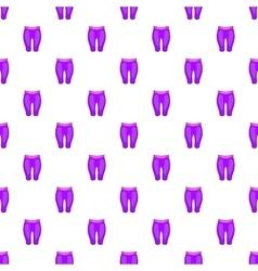 Women sport pants pattern cartoon style vector