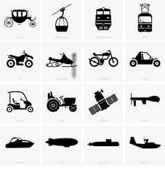 Vehicles and transportation vector image