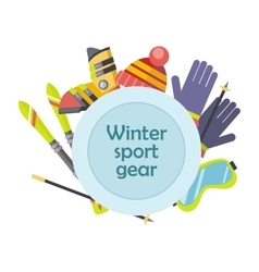 Winter sport gear concept in flat design vector