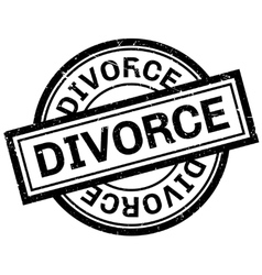 Divorce rubber stamp vector