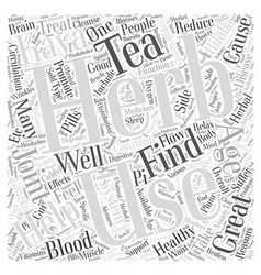 Herbs helping with healthy aging word cloud vector