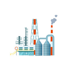 Modern industrial building isolated icon vector