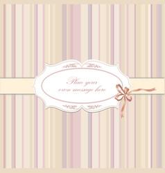 Flower frame greeting card border decor floral vector