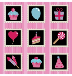party stamps vector image